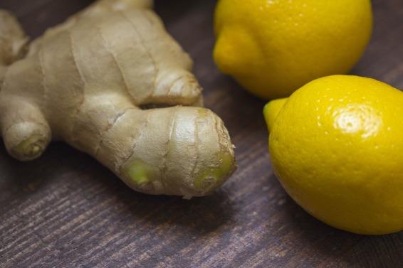 ginger root and lemons