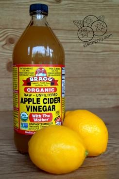 apple cider vinegar and lemons