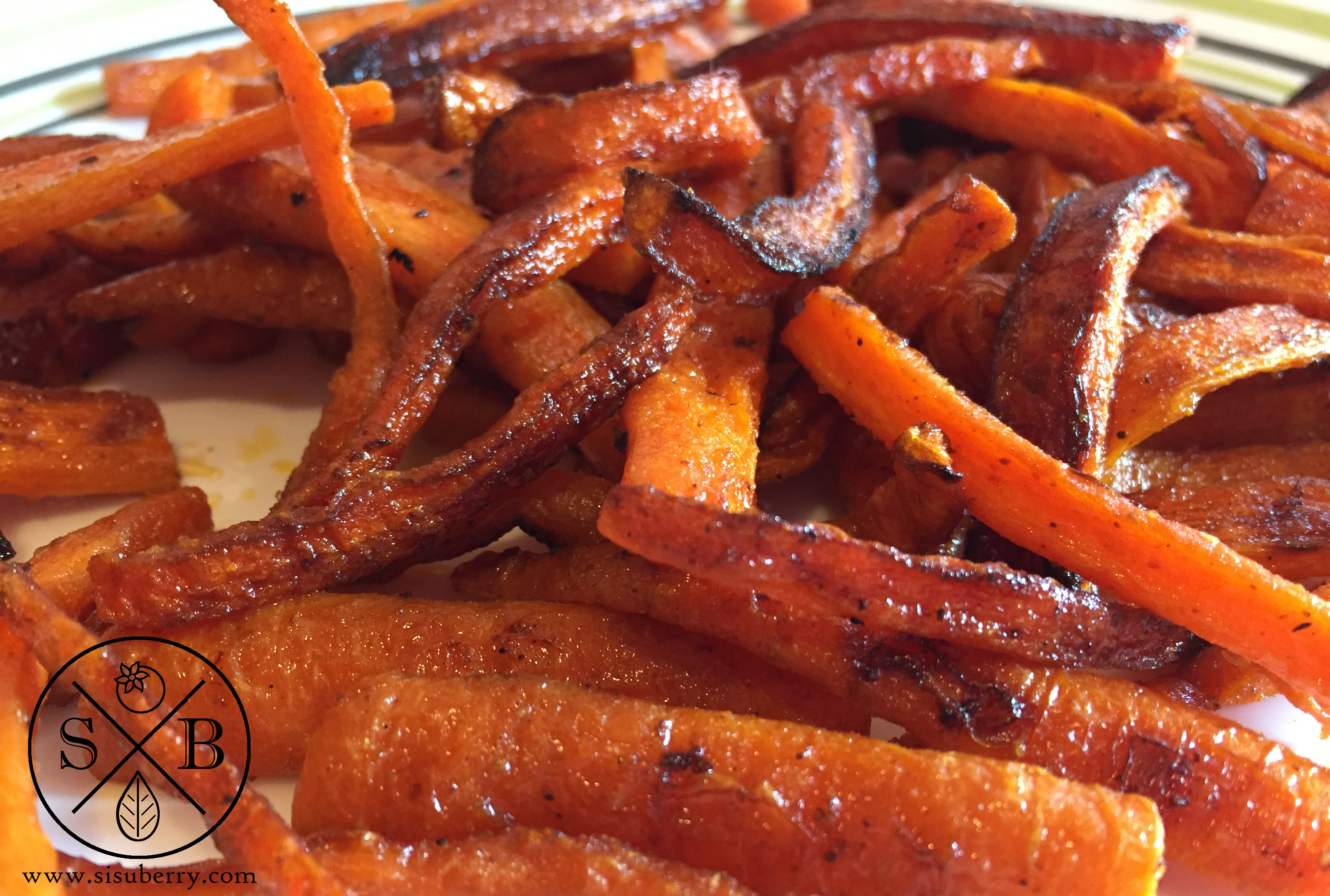 Baked Carrot French Fries | Sisuberry.com